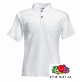 Polo uomo bianca Fruit of the Loom