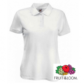 Polo donna bianca Fruit of the Loom