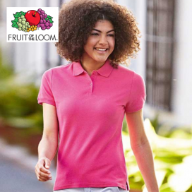 Polo donna vari colori Fruit of the Loom