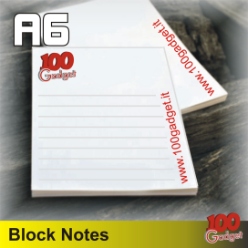Block notes A6 personalizzato