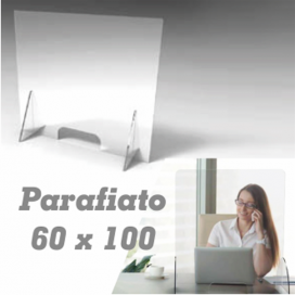 Barriera parafiato in plexiglass 60 x 100